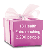 18 Health Fairs reaching 2.200 people
