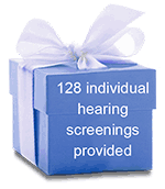 128 individual hearing screenings provided