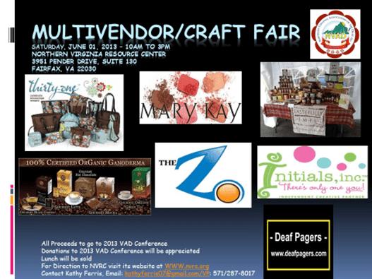 VAD Multivendor /Craft Fair