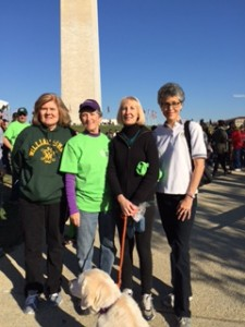 Team NVRC Walkers - Eileen McCartin, Kay Ellis, Cheryl Heppner with Galaxy, and Diane Preece