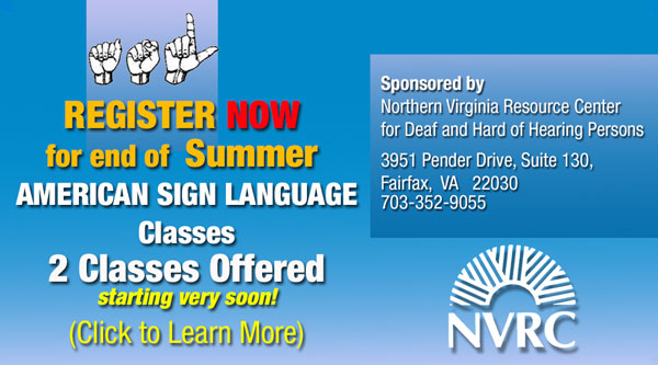 SIGN UP NOW!  ASL Class Information