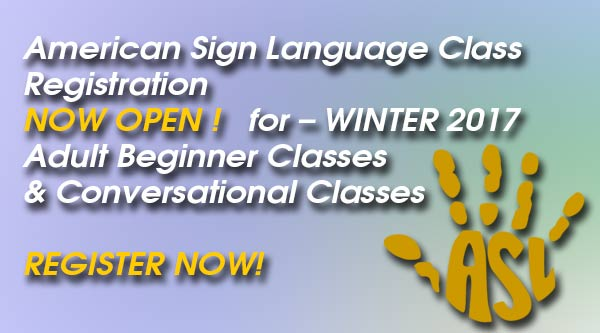 Register for ASL classes