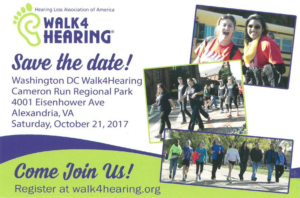 Register for HLAA walk4 Hearing